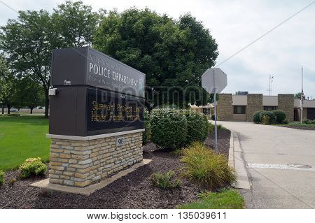 SHOREWOOD, ILLINOIS / UNITED STATES - AUGUST 30, 2015: The Village of Shorewood Police Department provides law enforcement services in Shorewood.