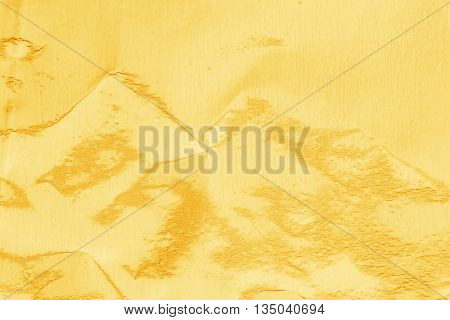 Gold Background Or Texture And Shadow. Shiny Yellow Gold Foil.