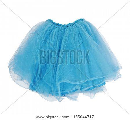 blue skirt isolated on white background