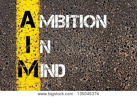 Concept Image Of Business Acronym Aim