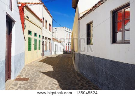 Architectural detail in Agulo Village, La Gomera, Spain, Europe