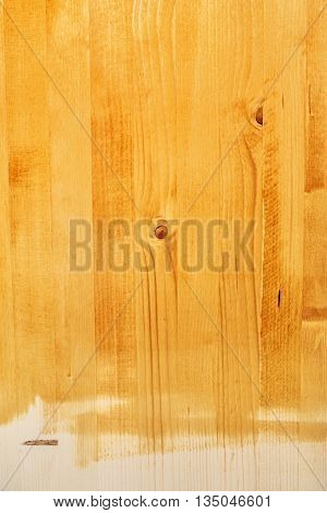Yellow hardwood board texture painted with acrylic paint non toxic acrylic water based lacquer wood coating
