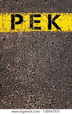Pek Three Letters Airport Code