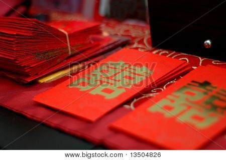 Chinese word wedding Red packets