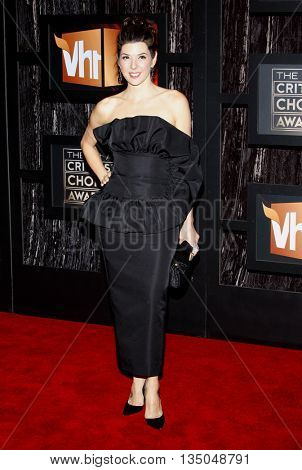 Marisa Tomei at the VH1's 14th Annual Critics' Choice Awards held at the Santa Monica Civic Auditorium in Santa Monica, USA on January 8, 2009.