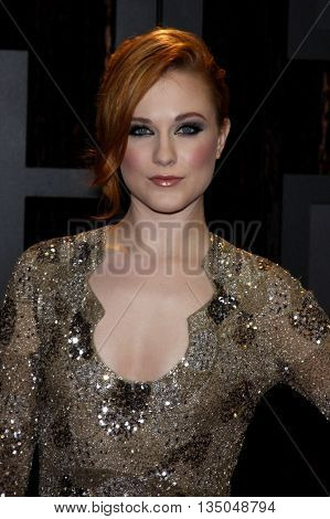 Evan Rachel Wood at the VH1's 14th Annual Critics' Choice Awards held at the Santa Monica Civic Auditorium in Santa Monica, USA on January 8, 2009.