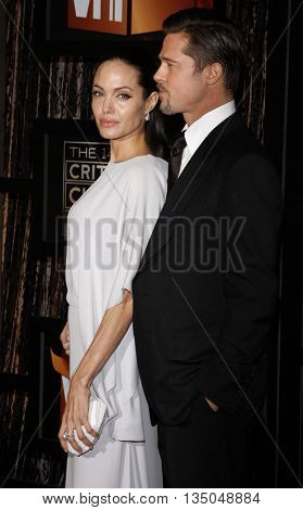 Angelina Jolie and Brad Pitt at the VH1's 14th Annual Critics' Choice Awards held at the Santa Monica Civic Auditorium in Santa Monica, USA on January 8, 2009.
