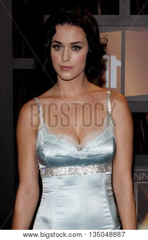 Katy Perry at the VH1's 14th Annual Critics' Choice Awards held at the Santa Monica Civic Auditorium in Santa Monica, USA on January 8, 2009.