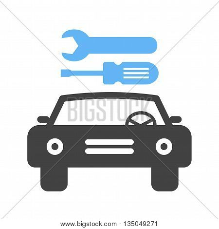 Car, mechanic, repair icon vector image. Can also be used for car servicing. Suitable for use on web apps, mobile apps and print media.