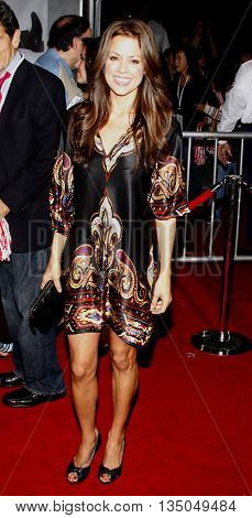 Brooke Burke at the Los Angeles Premiere of 'High School Musical 3: Senior Year' held at the Galen Center in Los Angeles, USA on October 16, 2008.
