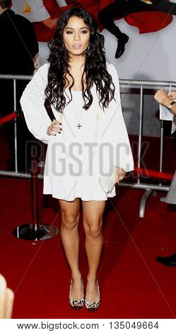 Vanessa Hudgens at the Los Angeles Premiere of 'High School Musical 3: Senior Year' held at the Galen Center in Los Angeles, USA on October 16, 2008.