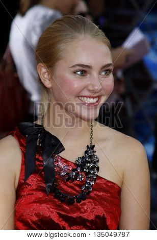 AnnaSophia Robb at the Los Angeles Premiere of 'High School Musical 3: Senior Year' held at the Galen Center in Los Angeles, USA on October 16, 2008.