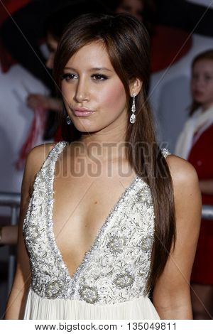 Ashley Tisdale at the Los Angeles Premiere of 'High School Musical 3: Senior Year' held at the Galen Center in Los Angeles, USA on October 16, 2008.