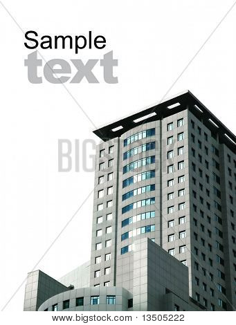 modern building isolated