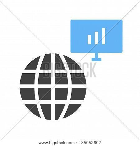 Server, global, technology icon vector image.Can also be used for data sharing. Suitable for mobile apps, web apps and print media.