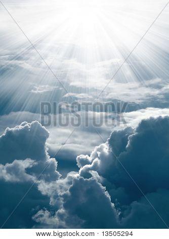 sun shine on cloud