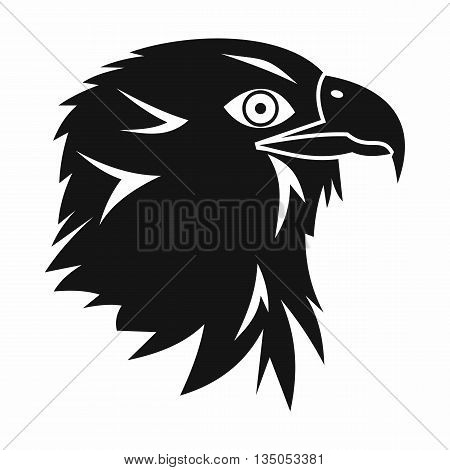 Eagle icon in simple style isolated on white background