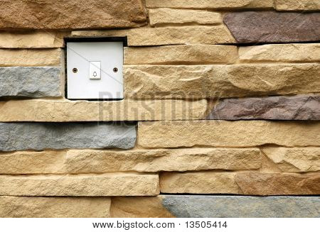 doorbell on modern wall