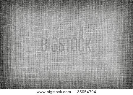 Natural Linen Texture For The Background. Gray Color.