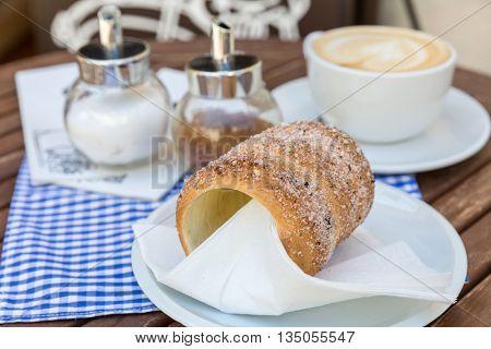 Trdlo or trdelnik - traditional national Czech sweet pastry dough.