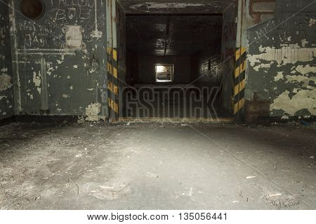 Disused nuclear weapons store bunker Soviet cold-war time military base disused. Brzeznica Zachodniopomorskie province Poland