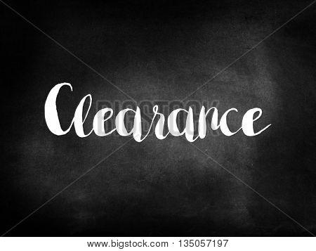 Clearance on blackboard