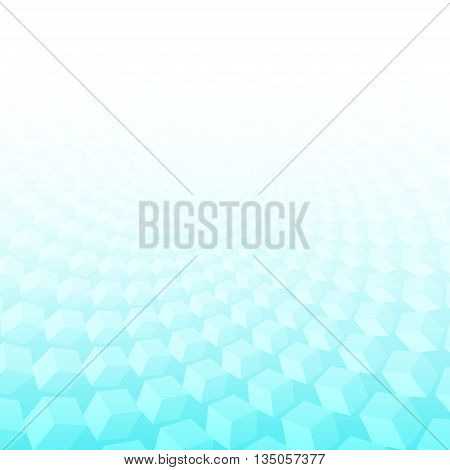 Abstract geometric background. Ideal for artistic concept works cover designs.Turquoise smooth twist light lines vector background. Eps 10.