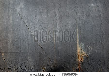 Metal Plate With Rusty Corrugated Iron Metal Texture