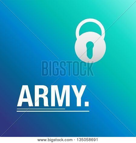Army blue background to secure the country