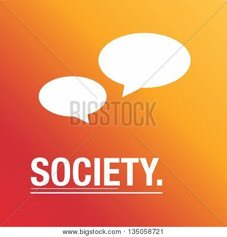 Society orange background to talk about everything