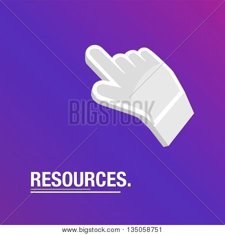 Resources purple background with icon for business