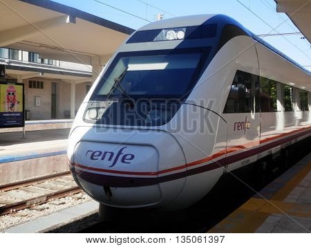 Train At Jaen Station