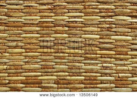 texture of rattan weave