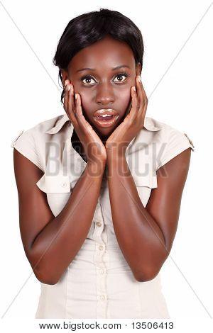 African Amercian Businesswoman In Shock