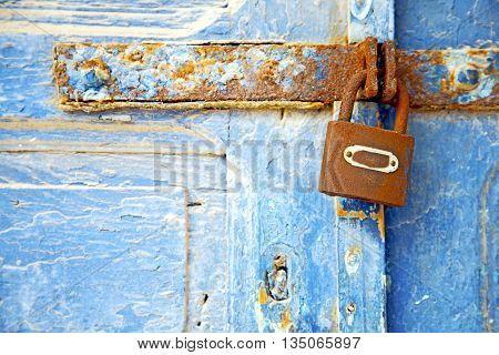 Morocco  Africa The Old Sand Safe Padlock