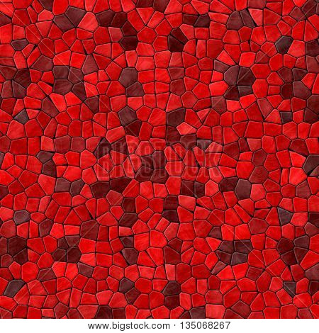 red mosaic pattern texture background with black grout