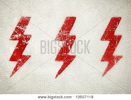 grunge electric sign
