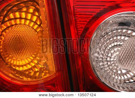 car lamp close-up