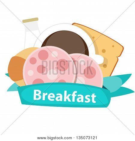 Best Breakfast Icon Background in Modern Flat Style Vector Illustration EPS10