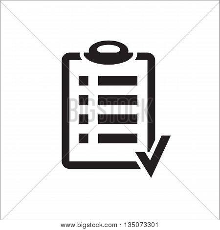 Action plan clipboard icon design over a white background. Board goal check list icon. Vector