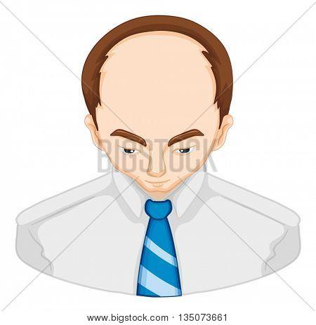 Hair loss in man