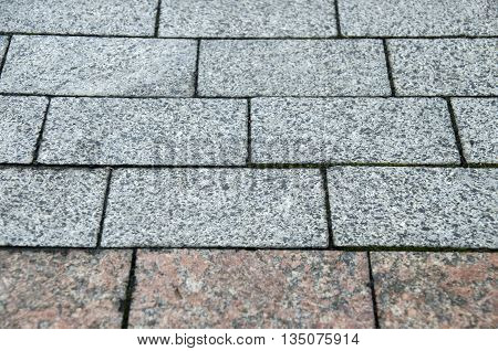 Road stone pavement texture grey bricks pattern