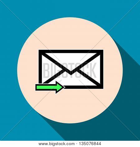 Email symbol letter icon - vector flat design. Eps 10.