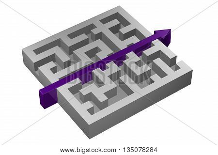 Concept : Solution isolated on white background. 3D rendering.