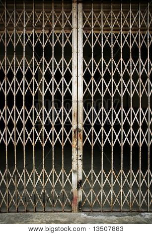 elastic metal fence door