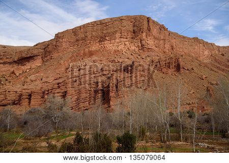 Scenic Landscape In Dades Gorges, Atlas Mountains, Morocco