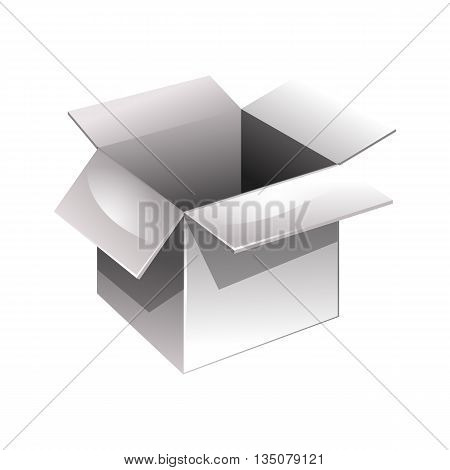 Open Box. Vector Illustration. Isolated On White Background