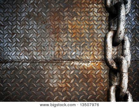 Cadeia de metal pesado na placa de metal
