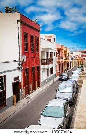 The Street Of Garachico Town