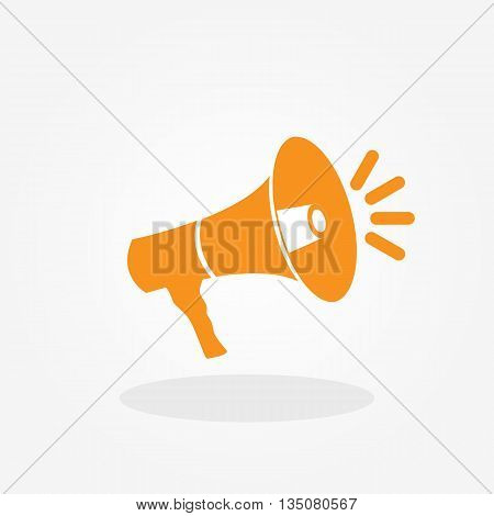 Megaphone Icon Vector Illustration on White EPS10
